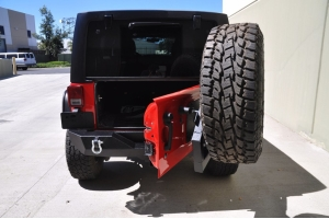 DV8 Offroad RS-2 Single Action Rear Bumper and Tire Carrier (Part Number: )