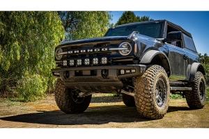 Baja Designs 6 XL Series Linkable Light Bar Kit w/ Upfitter  - Ford Bronco w/ Plastic Bumper