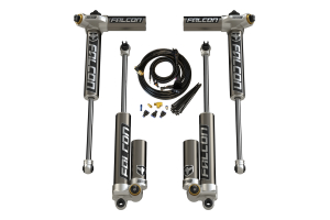 Teraflex Falcon Series 3.4 Adjustable Piggyback Shock Front & Rear Kit 0-2in Lift (Part Number: )