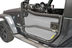 Dirty Dog 4x4 Rugged Ridge Tube Door Screens Grey (Part Number: )