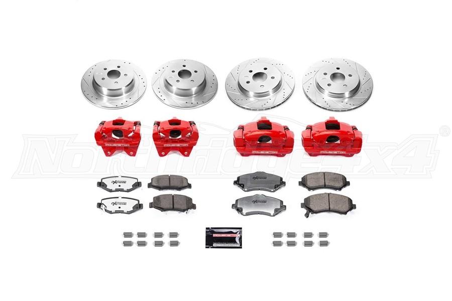 Power Stop Big Brake Conversion Kit w/ Red Calipers & Brackets - JK