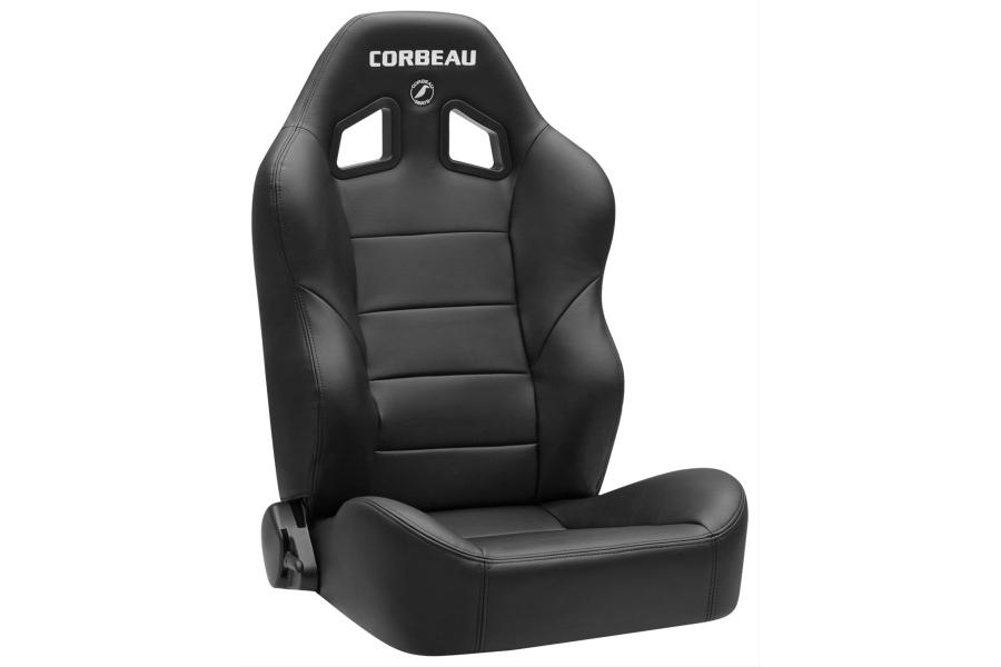 Corbeau Baja XRS Black Vinyl Seat, Pair
