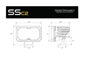 Diode Dynamics SSC2 2IN Pro LED Flood Pod, RBL