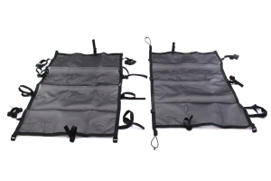 Dirty Dog 4x4 Sun Screen Front and Back Seats Black ( Part Number: DD-S-JKF4-07-BLK)