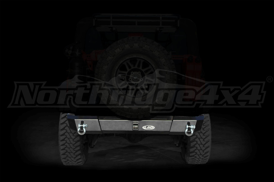 LOD Signature Series Shorty Rear Bumper w/out Light Cutouts Black - JK