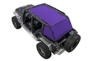 SpiderWebShade 2-Piece ShadeCage System - Purple - JK 4Dr