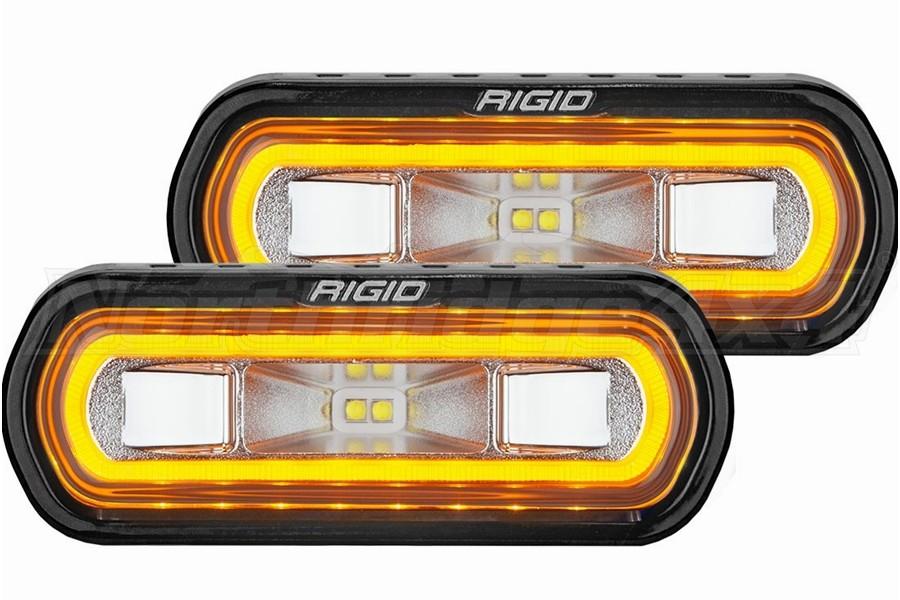 Rigid Industries SR-L Series Off-Road Spreader Lights, Amber Halo - Pair