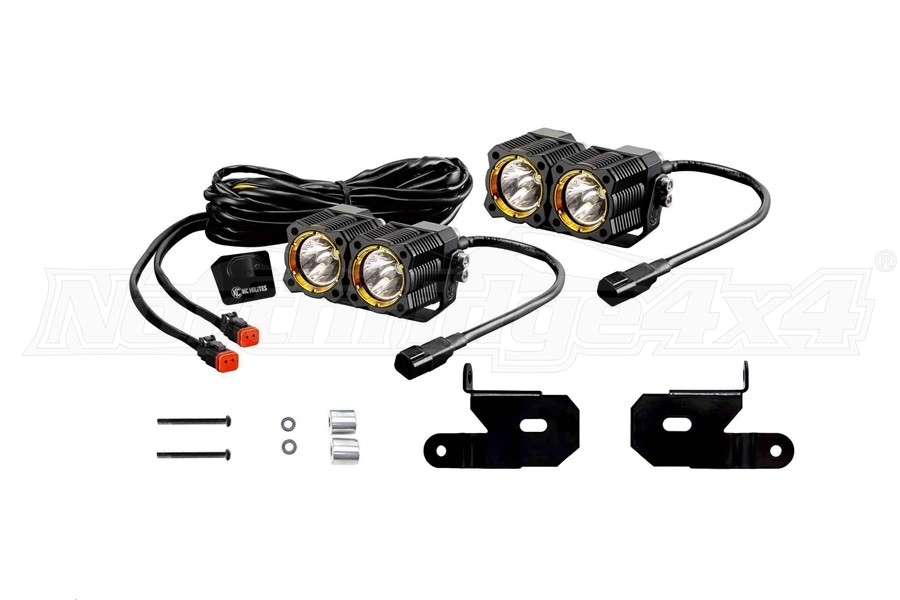 KC HiLites A-Pillar/Windshield Light Mount Kit w/ FLEX LED Dual Lights - JL