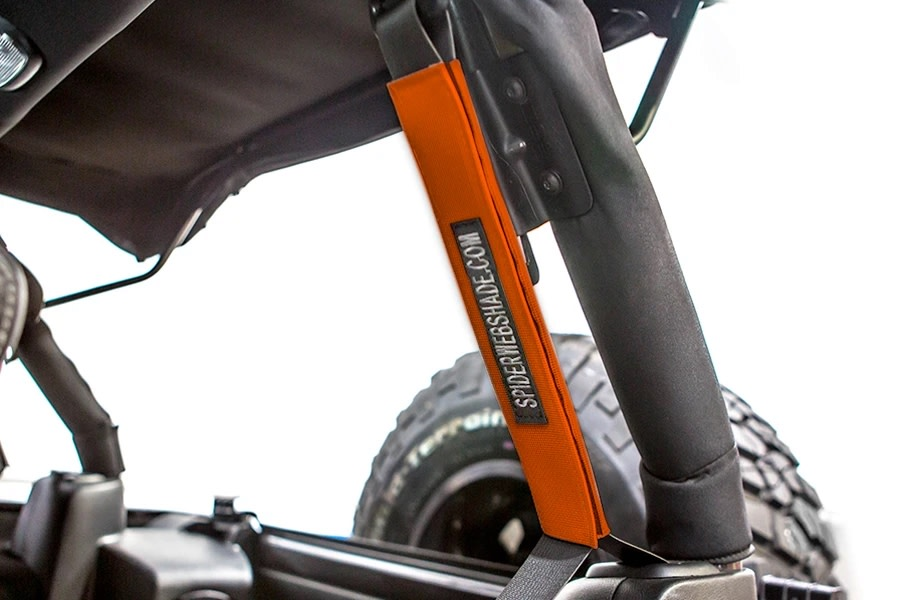 SpiderWebShade Seatbelt Silencers - Orange - JK 4Dr