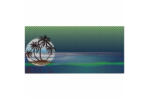 Under The Sun Inserts Endless Summer Blue Green Palm Tree Grill Insert (Part Number: )