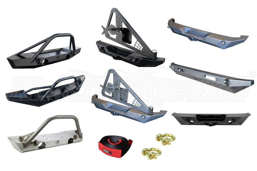 Poison Spyder Bumper, Shackles and Tow Strap Package ( Part Number: BUMPERPROMOPKG)