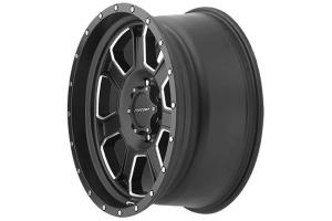Pro Comp Sledge 43 Series Satin Black w/ Milled Accent Wheel 17x9 5x5 - JT/JL/JK