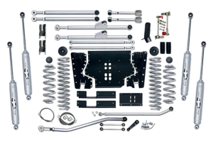 Rubicon Express 3.5in Extreme Duty Long Arm Lift Kit Rear, Twin Tube Shocks (Part Number: )