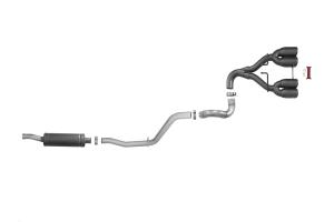 aFe Rebel Series 2.5in Cat-Back Exhaust System w/Black Tip  - JL 4Dr 3.6L
