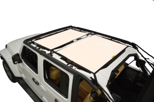 Dirty Dog 4x4 Sun Screen Front and Rear - Sand - JL 4DR