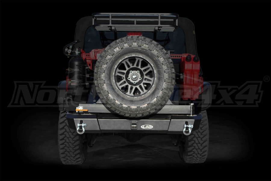 LOD Signature Series Armor Lite Gen 4 Shorty Rear Bumper w/Tire Carrier Black ( Part Number: JBC0751)