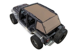 SpiderWebShade 2-Piece ShadeCage System - Tan - JK 4Dr