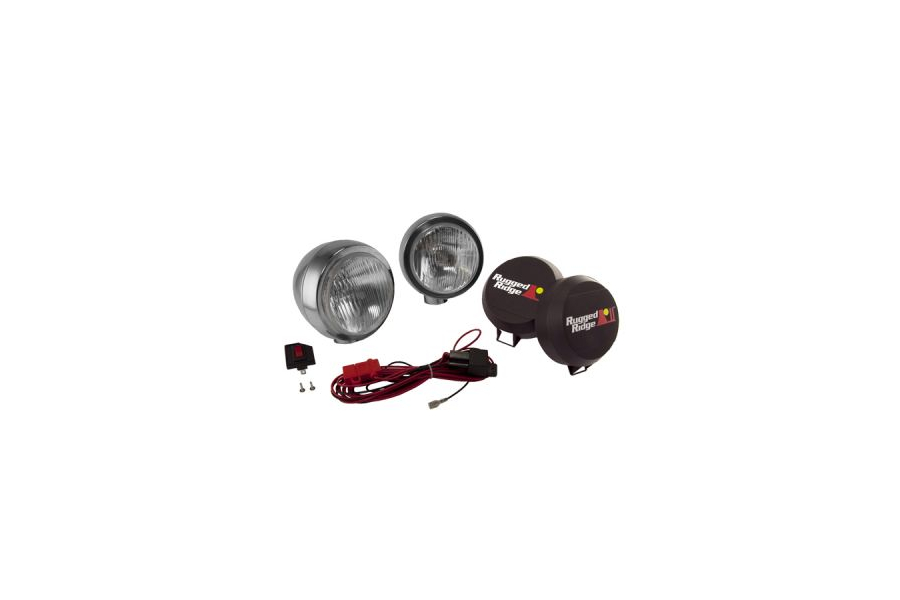Rugged Ridge HID Fog Light Kit 6in Black (Part Number:15206.51)