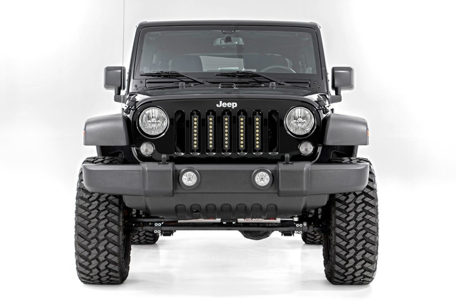 Rough Country 8in Vertical Light Bar Grille Kit (Part Number:70644)
