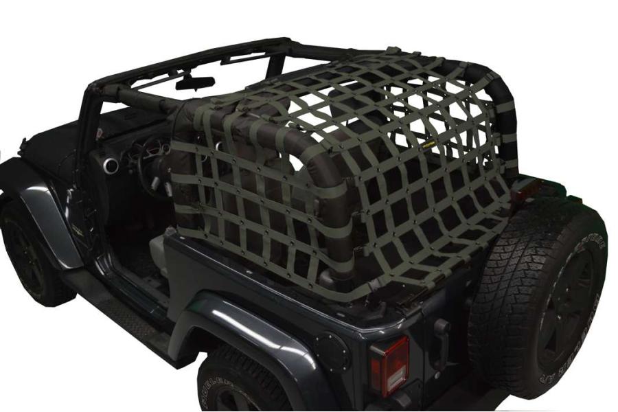 Dirty Dog 4x4 Rear Netting Olive - JK 2dr