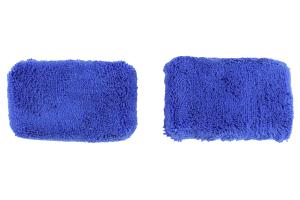 Chemical Guys Microfiber Applicator Pads Thick Premium Grade Blue - 2 Pack