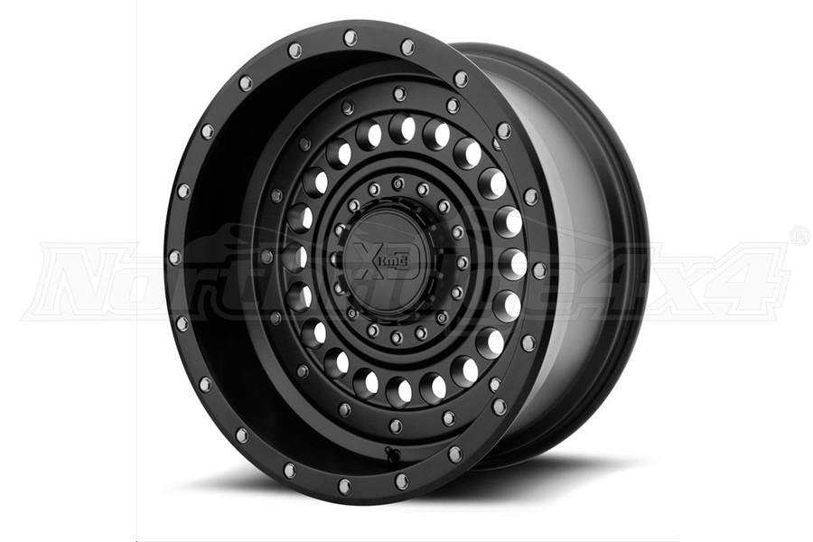 XD Series XD136 Panzer Series Wheel, Satin Black - 17 x 9 5x5/5x5.5 	 - JT/JL/JK