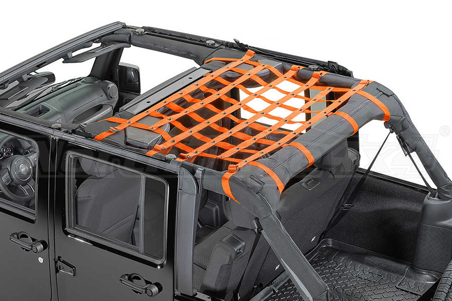 Dirty Dog 4x4 Rear Seat Netting Orange (Part Number:J4NN07M1OR)