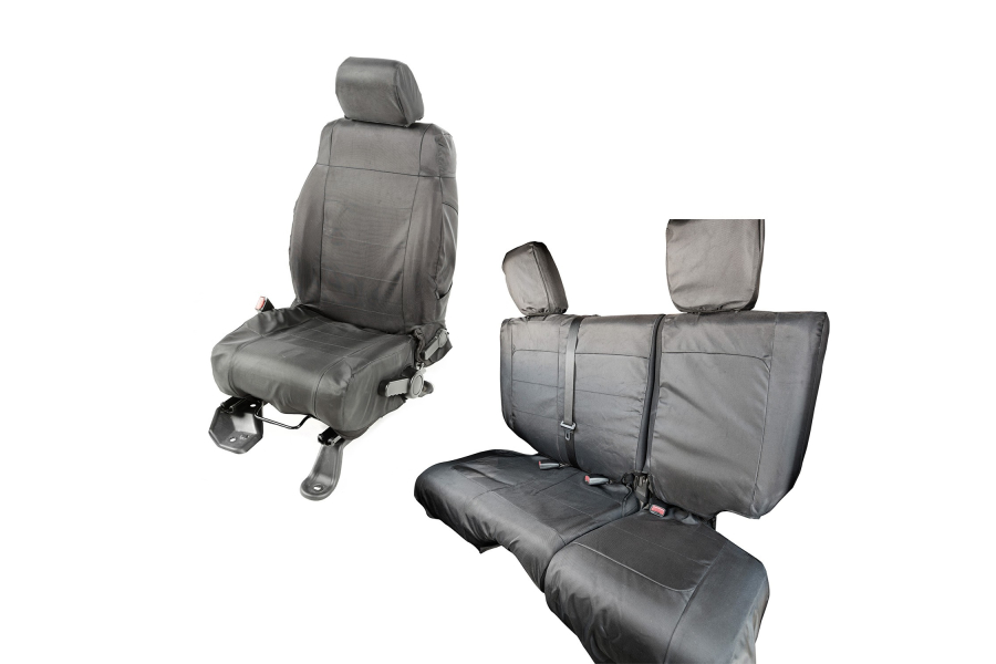 Rugged Ridge Ballistic Seat Cover Set Black (Part Number:13256.06)