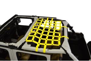 Dirty Dog 4x4 Rear Seat Netting, Yellow - JL 4Dr
