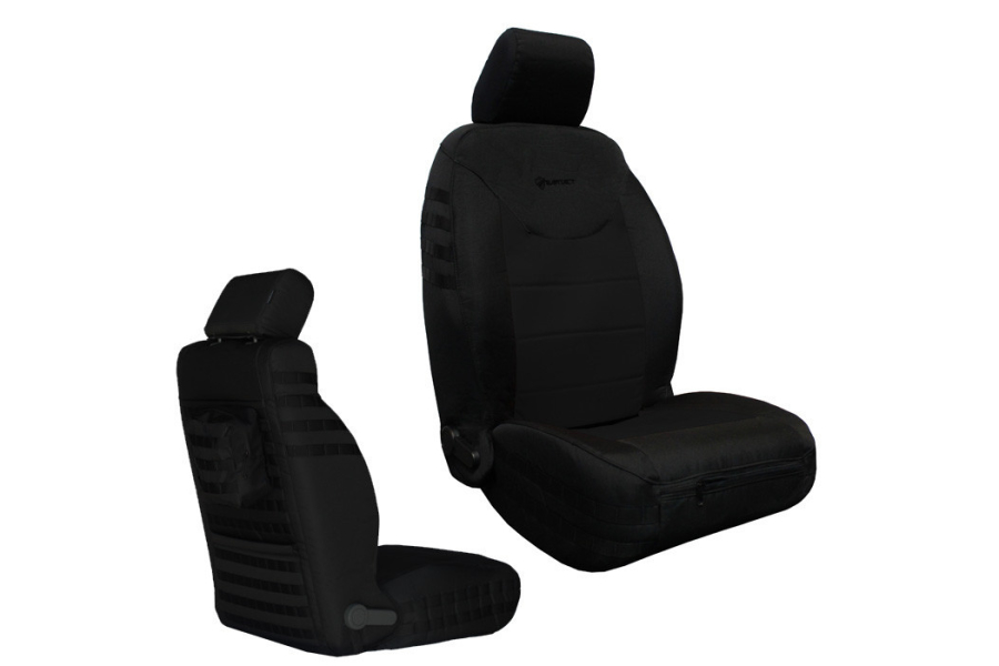 Bartact Front Seat Covers Non-Air Bag Compliant Black/Black (Part Number:JKSC2013FPBB)