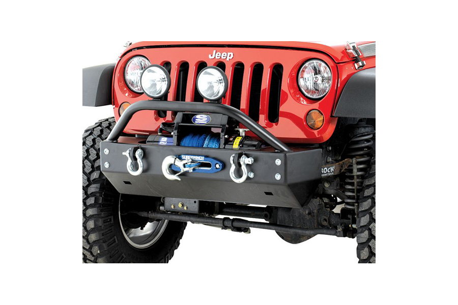 Rock Hard 4x4 Patrior Series Aluminum Front Bumper w/Lowered Winch Plate (Part Number:RH-5042)