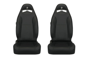 Corbeau Moab Black Vinyl Seat Pair