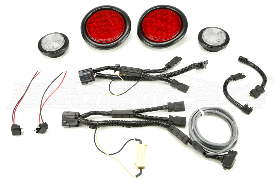 Poison Spyder LED Tail and Reverse Lights w/Harness Kit (Part Number:41-08-010)