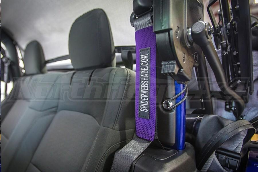 Spiderwebshade SeatBelt Silencers Purple (Part Number:SWS-SBSLNR-01-JL2D-PRP)