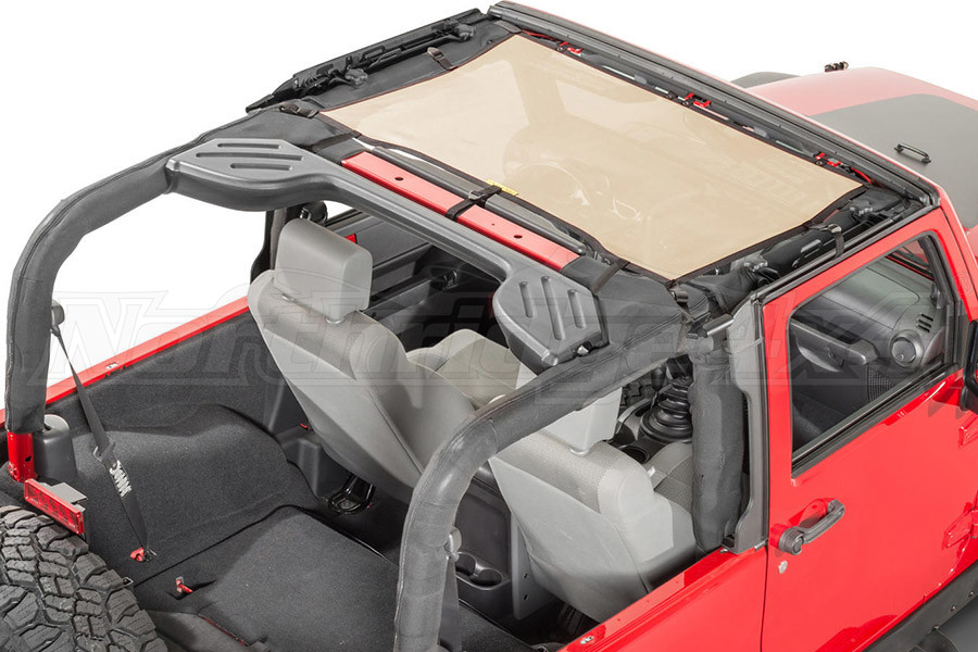 Dirty Dog 4x4 Front Seat Sun Screen Sand (Part Number:J4SS07F1SD)