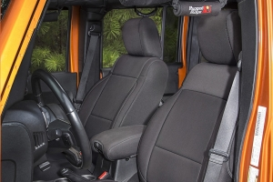 Rugged Ridge Seat Cover Kit Black - JK 4dr 2011+