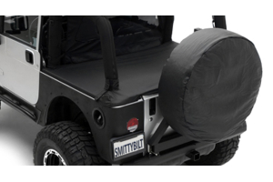 Smittybilt Spare Tire Cover Large Tire 33in - 35in Black Denim (Part Number: )