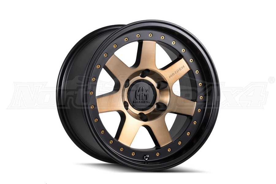 Wheel-1 Mayhem Prodigy 8300 Matte Black Wheel W/ Bronze Tint 17X9 5x127 - JT/JL/JK