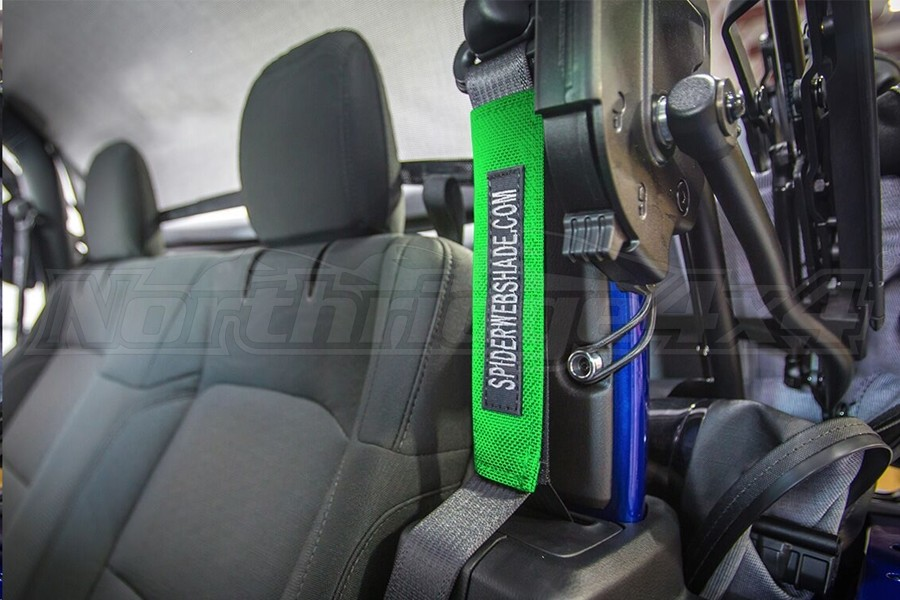Spiderwebshade SeatBelt Silencers Green (Part Number:SWS-SBSLNR-01-JL2D-GRN)