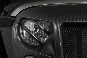 Rugged Ridge Elite Pivotal Headlight Euro Guards - JK