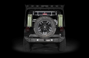 LOD Signature Series Armor Lite Gen 4 Full Width Rear Bumper w/Tire Carrier and Rigid Light Cut Outs Black (Part Number: )