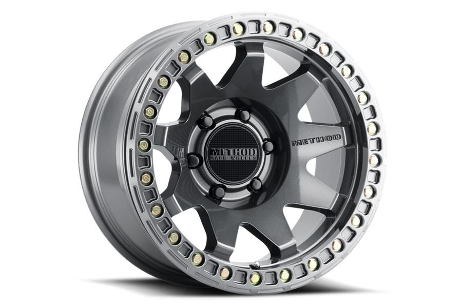 Method Race Wheels MR108 Series Beadlock Wheel, 17x9 8x6.5 - Gloss Titanium