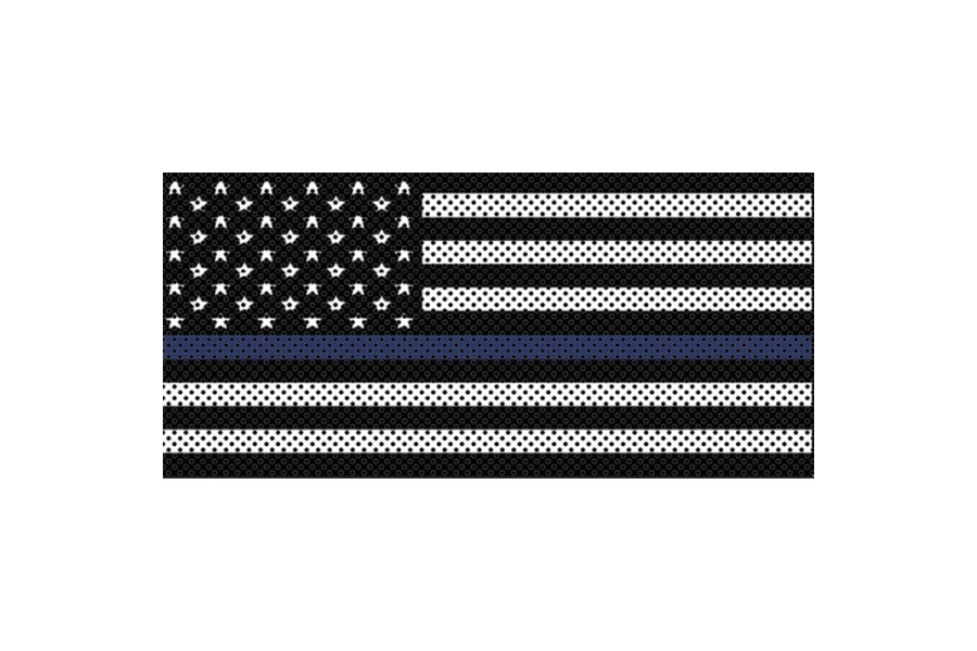 Under The Sun Inserts Thin Blue Line Black And White Grill Insert (Part Number:INSRT-BWTBL-JL)