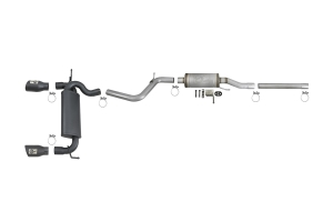 aFe Power Rebel Series 2.5in Cat-Back Exhaust System w/ BlackTips - JK