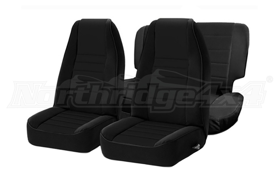 Smittybilt Neoprene Front and Rear Seat Covers Black  (Part Number:471701)