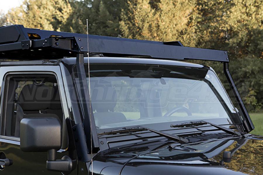 Jeep Jk 4dr Lod Sliding Roof Rack Air Deflector Black Pc