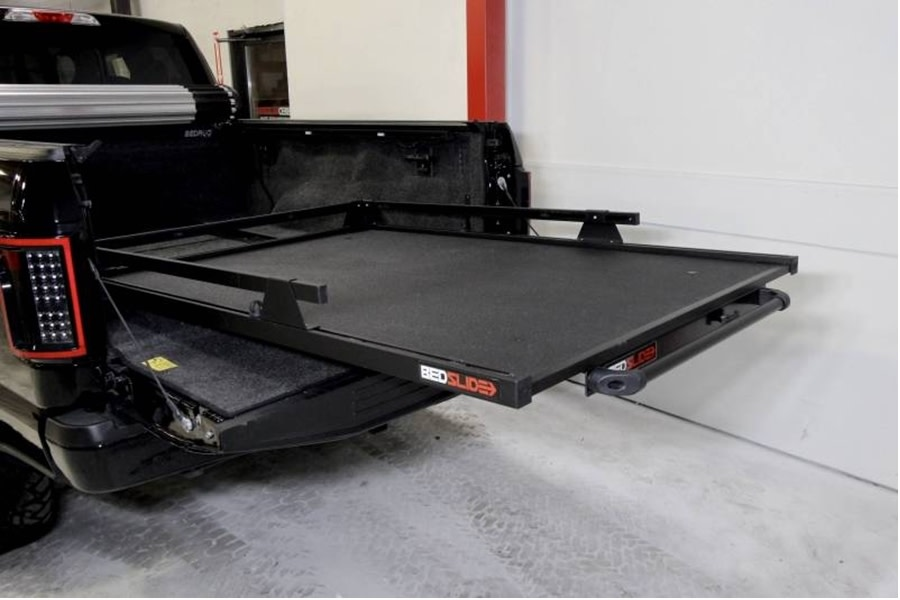 BedSlide 1500 Contractor Cargo Slide System, 75in x 48in - Black  - Toyota Tundra 2007+ / Ram 1981-01 1500/2500/3500  w/ 6.5ft Bed