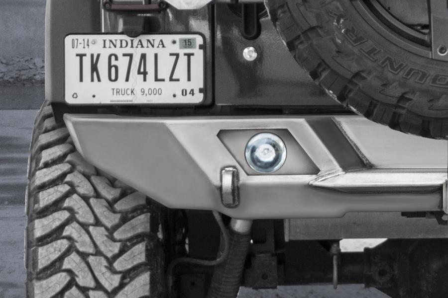 LOD Destroyer Rear Light Bezel Options, Halogen Lights Black Powder Coated - JL