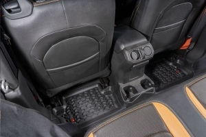 Rugged Ridge All Terrain Floor Liner Set w/ Full Cargo, Black  - JL 2Dr