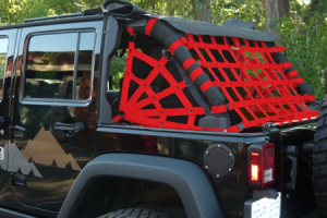 Dirty Dog 4x4 Spider Netting Rear Red (Part Number: )